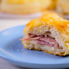 stuffed honey ham biscuits youtube