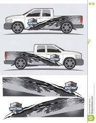 Vintage Ford Truck Decals - truck and vehicle decal graphic design stock illustration image