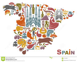Map Spain Map Of Spain Stock Vector Image 62743609