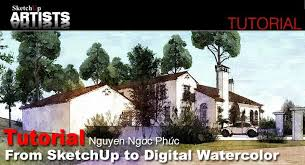 sketchup and photoshop sketchup 3d rendering tutorials by