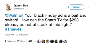 walmart sells out of black friday sales on thanksgiving business