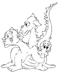dragon coloring page three headed dragon coloring home
