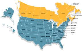 map of united states and canada canada and us map with states us canada map with states united