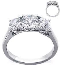 3 engagement ring platinum butterflies 3 engagement ring setting only