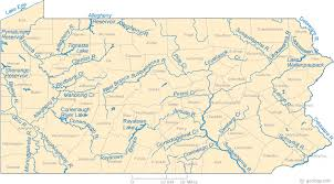 Pennsylvania rivers images Map of pennsylvania lakes streams and rivers gif