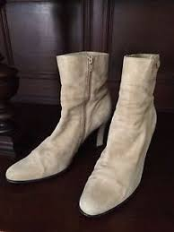 womens brown suede boots size 9 aerosoles womens ankle beige suede boots size 9 medium ebay