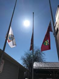 Half Mass Flag Today Cobourg Police Have Lowered Their Flags To Half Mast In Honor
