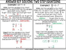 solving one and two step equations basic guided notes by 4 the