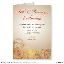 Religious Invitation Cards Priest 50th Anniversary Of Ordination Blessing Greeting Card