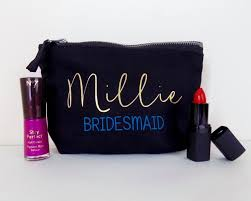 bridal party makeup bags bridesmaid gift personalised make up bag or wash bag unique