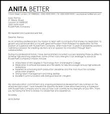 retail supervisor cover letter example restaurant supervisor