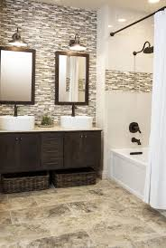 bathroom glass tile designs best 25 brown tile bathrooms ideas on neutral bath