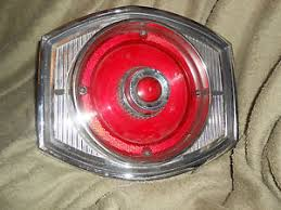tail light lens assembly 1965 ford custom 500 65 afd automobile auto car tail light lens
