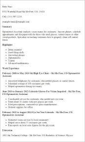 optometrist resume optometrist resume samples visualcv resume