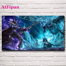 online get cheap dragon artwork canvas aliexpress com alibaba group atfipan wall art poster wall pictures for living room world of lich king dragon game painting