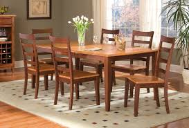 bristol point rectangular leg dining table in honey chestnut