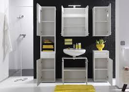 furnline bora high gloss bathroom furniture tall cabinet white