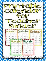 printable calendar 2016 for teachers free printable calendar 2017 2018 by jane williams tpt