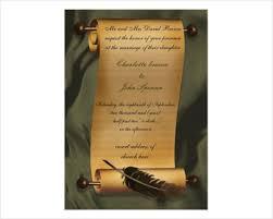 scroll wedding invitations 45 wedding invitations free premium templates