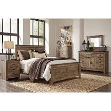 Rustic Casual Contemporary  Piece King Bedroom Set Trinell RC - Rc willey king bedroom sets