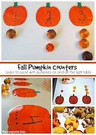 pumpkin counting activity u0026 light table play for preschoolers