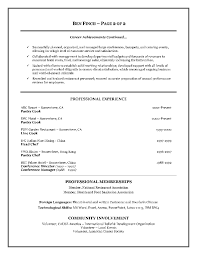 resume for executive chef position lefcoe real estate transactions