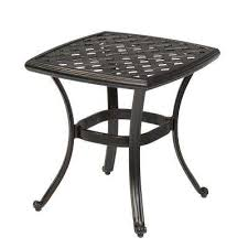 Wicker Accent Table Outdoor Side Tables Patio Tables The Home Depot