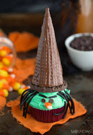 triple chocolate witch cupcakes are fun for the whole family