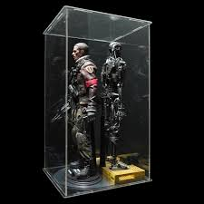 Display Cabinets With Lights 1 6 Scale Action Figure Display Case With Led Light Youtube