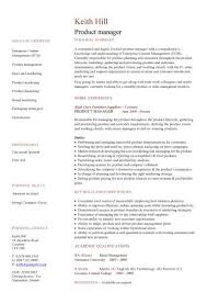 Retail Management Resume Sample by Product Manager Resume Sample Experience Resumes