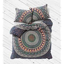 Duvet Quilt Cover Amazon Com Exclusive Badmeri Mandala Duvet Cover With Pillowcases