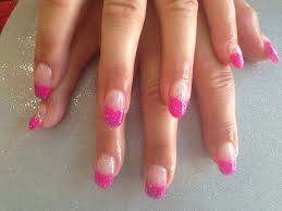 gel nails with pink and glitter gelish gel polish nail designs
