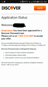 discover personal loan experience myfico forums 4636024