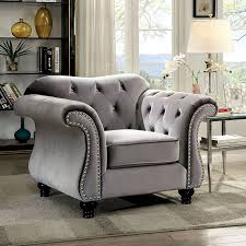 Tufted Rolled Arm Sofa Chairs U0026 Accent Chairs Upholstered Furniture Decor Showroom