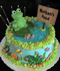 frog themed baby shower frogs baby shower theme in nathan s pond baby shower cake in