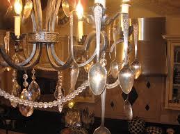 Diy Vintage Chandelier Diy Silverware Chandelier Classy Clutter
