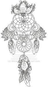 wonderful dream catcher tattoo design