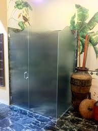 Frosted Glass Shower Door by Bathroom Entrancing Frosted Single Swing Frameless Glass Shower