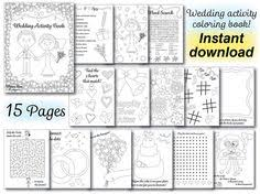 7 5 instant download wedding activity book u003e customizable