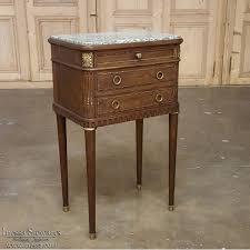 19th century french louis xvi mahogany u0026 marble nightstand
