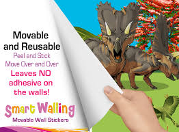 personalised dinosaurs growth height chart movable wall sticker