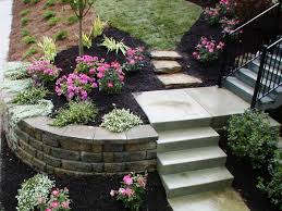 Low Maintenance Backyard Ideas How To Make A Flower Bed In Front Of House Small Yard Landscaping