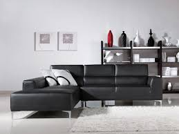 l shaped leather dark gray sectional sofa with couch and