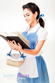 Belle Halloween Costume Blue Dress Apron Belle Apron Womens Costume Loverdoversclothing