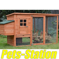Large Rabbit Hutch Large Chicken Coop Rabbit Hutch Ferret Cage Hen Chook House 9