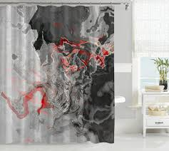 abstract art gray u0026 black shower curtains u2013 abstract art home