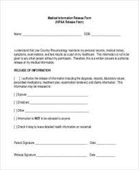 release of information form template emailfaxreviewcommedical