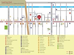 Grand Central Map Hotel Near Bts Nana U0026 Terminal 21 Shopping Mall Grand Swiss