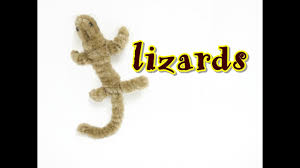 pipe cleaner craft lizards youtube