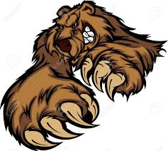 grizzly claws grizzly mascot with paws and claws royalty free cliparts